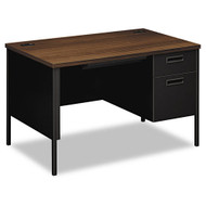 "HON Metro Classic Series 48"" Single Pedestal Metal Desk - P3251R"