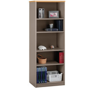 "Bush Business Furniture Series A Bookcase 5-Shelf 66"" Light Oak & Sage - WC64365"