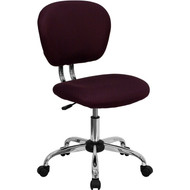 Flash Furniture Mid-Back Burgundy Mesh Task Chair with Chrome Base - H-2376-F-BY-GG