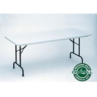 Correll R-Series Heavy Duty Blow-Molded Plastic Folding Table 30 x 96  - R3096