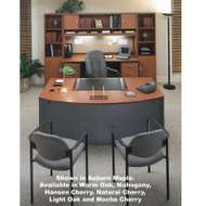 Bush Business Furniture Series C Package Executive Bowfront Desk - SC2