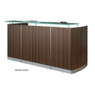 Mayline Medina Reception Station (No Pedestal Tiles) Textured Brown Sugar Finish - MNRS-TBS