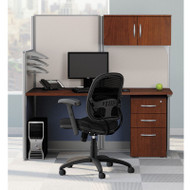 MONTHLY SPECIAL! Bush Furniture Office-in-an-Hour Straight Desk Workstation Package - WC36492-03STGK