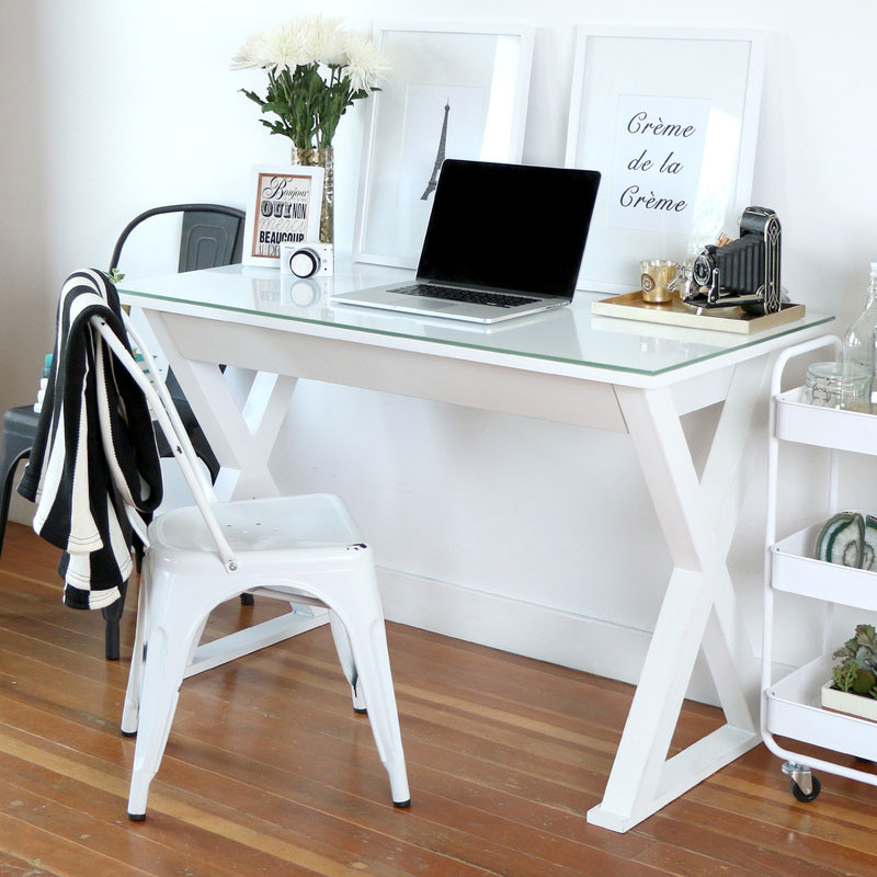Stupendous Walker Edison White Computer Desk 48 D48X30Wh Interior Design Ideas Skatsoteloinfo