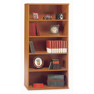 Bush Business Furniture Series C Bookcase 5-Shelf Open Double Natural Cherry - WC72414