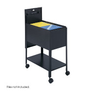 Safco Extra Deep Locking Letter-Size Mobile Tub File with Lower Shelf - 5362