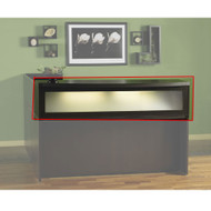 "Mayline Aberdeen Reception Transaction Counter 72"" Mocha - ARDTC"
