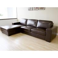 Wholesale Interiors PerditaLeather 2-pc Sofa Set Dark Brown - 3022-001-Reverse