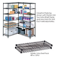 "Safco Extra Shelves Shelving Units 48""W x 24""D (2-pack) - 5296"