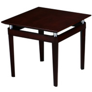 Mayline Napoli Veneer End Table Mahogany - NTS