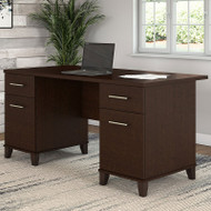 "Bush Somerset Collection Desk 60"" Mocha Cherry - WC81828"