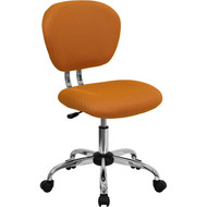 Flash Furniture Mid-Back Orange Mesh Task Chair with Chrome Base - H-2376-F-ORG-GG