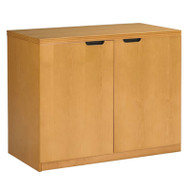Mayline Luminary 2-Door Hinged Credenza Maple - HDC3620M