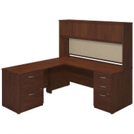Bush Business Furniture Series C Elite Desk with Hutch L-Shaped Hansen Cherry - SRE130HCSU