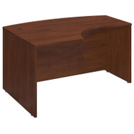 "Bush Business Furniture Series C Elite L-Bow Desk 60"" x 43"" Left Hand Hansen Cherry - WC24533"