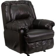 Flash Furniture Contemporary Marshall Walnut Leather Rocker Recliner - HM-750-MARSHALL-WALNUT-GG
