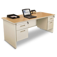 Marvel Double Pedestal Steel Desk 66 x 30 - PDR6630DP