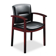 HON 5000 Series Park Avenue Collection Executive Leather Guest Chair - Mahogany - 5003NSS11