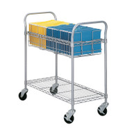 "Safco Wire Mail Cart 36""W - 5236GR"