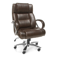 OFM Avenger Series Big & Tall Executive High Back Chair Brown - 810-LX-BRN