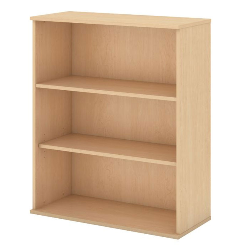 Remarkable Bush Business Furniture Bookcase 48H 3 Shelf Natural Maple Bk4836Ac Download Free Architecture Designs Rallybritishbridgeorg