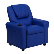 Flash Furniture Kid's Recliner with Cup Holder Blue Vinyl - DG-ULT-KID-BLUE-GG
