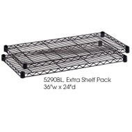 "Safco Extra Shelves for Shelving Units 36""W x 24""D (2-pack) - 5290"