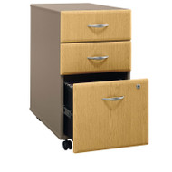 Bush Business Furniture Series A Mobile File Cabinet 3-Drawer Light Oak - WC64353P