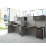 MONTHLY SPECIAL! Bush Furniture Office-in-an-Hour Desk Straight Workstation 2-units - OIAH005MOC
