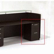 Mayline Medina Laminate Pedestal Drawer for Reception Desk (File/File) Assembled Mocha Finish - MNRFF-LDC