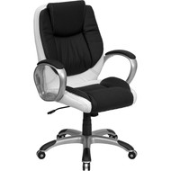 Flash Furniture Mid-Back Multi-Colored Leather Executive Swivel Office Chair - CH-CX0217M-GG