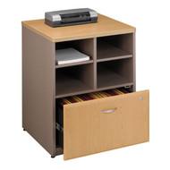 "Bush Business Furniture Series A Storage Cabinet 24"" Light Oak - WC64323P"