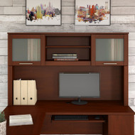 "Bush Somerset Collection Hutch for L-Shaped Desk 60"" Hansen Cherry - WC81731"