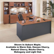Bush Business Furniture Series C Package L-Shaped Straight Desk - SC7