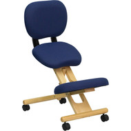 Flash Furniture Wooden Ergonomic Kneeling Posture Office Chair with Reclining Back - WL-SB-310-GG