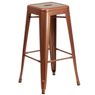 "Flash Furniture Copper Metal Indoor-Outdoor Barstool 30""H - ET-BT3503-30-POC-GG"