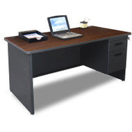 Marvel Single Pedestal Steel Desk 66 x 30 - PDR6630SP