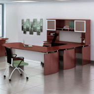 "Mayline Medina Laminate Executive 72"" Desk U-Shaped Package Left Mahogany - MNT32-LMH"