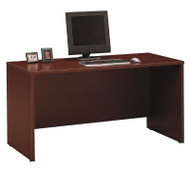"Bush Business Furniture Series C Credenza Desk in Mahogany 60""W x 24""D - WC36761"