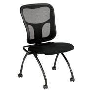 Eurotech by Raynor Eurotech Flip Armless Mesh Back Fabric Seat Nesting Chair (2-pack) - NT1000-BLK