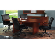 Mayline Aberdeen Conference Table Boat Surface 6' Cherry Finish - ACTB6-LCR