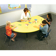 Correll High-Pressure Top Activity Table Kidney Shape 48 x 72 - A4872-KID