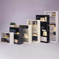 HON Brigade Metal Bookcase 4-Shelves - S60AB