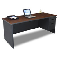 Marvel Single Pedestal Steel Desk 72 x 30 - PDR7230SP