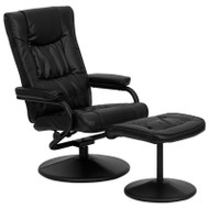Flash Furniture Contemporary Black  Leather Recliner and Ottoman - BT-7862-BK-GG