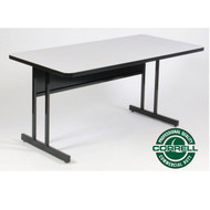 Correll High-Pressure Top Computer Desk or Training Table Keyboard Height  24 x 72 - CS2472