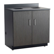 Safco Hospitality Base Cabinet, Waste Receptacle , Asian Night/Black - 1704AN