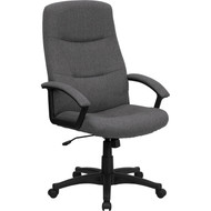 Flash Furniture High Back Gray Fabric Executive Swivel Office Chair - BT-134A-GY-GG
