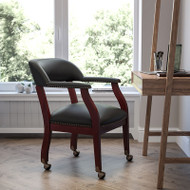 Flash Furniture Black LeatherSoft Conference Chair with Casters - B-Z100-LF-0005-BK-LEA-GG