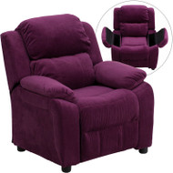 Flash Furniture Kid's Recliner with Storage Purple Microfiber - BT-7985-KID-MIC-PUR-GG
